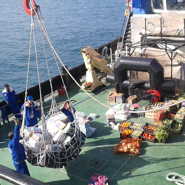 Ship chandler peru delivering supplies